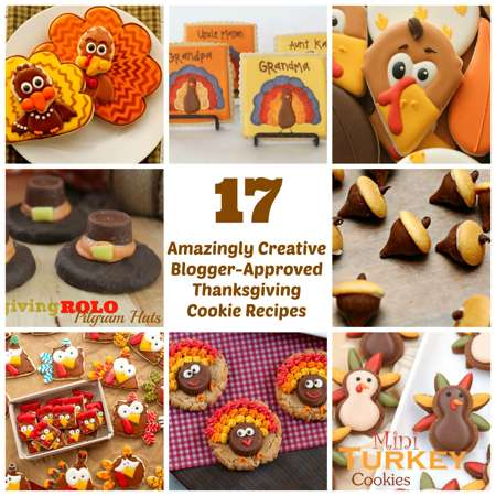 Thanksgiving Cookie Recipes Collage