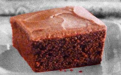 Frosted Chocolate Gingerbread Brownies