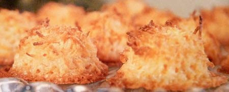 Chewy Coconut Orange Macaroons
