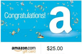 Grand Prize - $25 Amazon Gift Card
