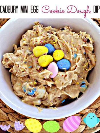 Cadbury Mini Eggs Cookie Dough Dip