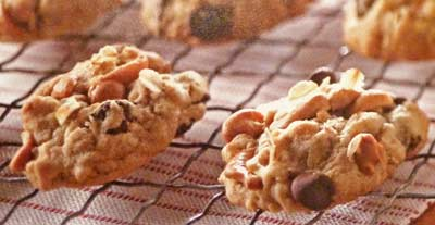 Cashew Chocolate Butterscotch Cookies