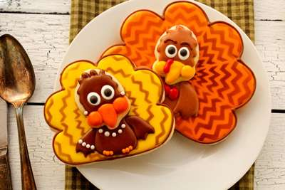 Thanksgiving Chevron Turkey Cookies