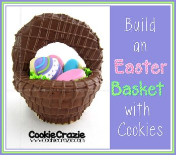 Decorated Easter Cookie Basket from Cookie Crazie