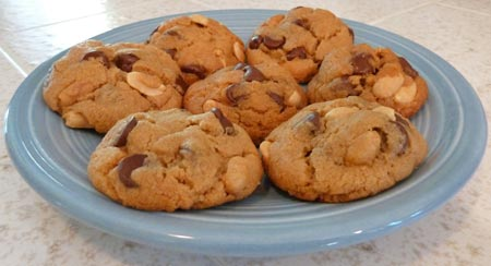 Flourless Peanutty Chocolate Chip Cookies