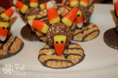 Fudge Stripe Thanksgiving Turkey Cookies