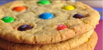 Giant M and M Cookies