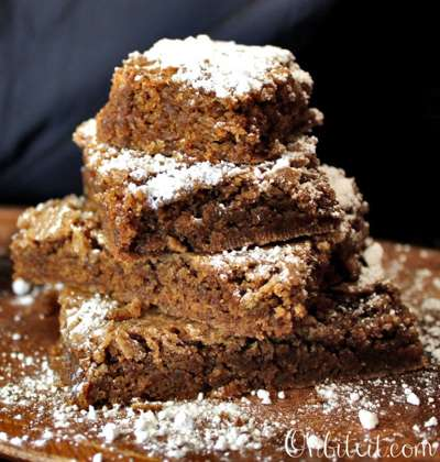 Cake Mix Gingerbread Brownies via Oh Bite It