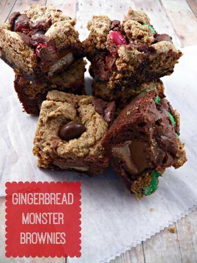 Gingerbread Monster Brownies from My Sweet Sanity
