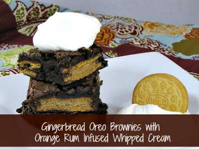 Gingerbread Oreo Brownies from Frugal Upstate