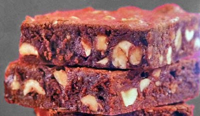 Hazelnut Fudge Brownies