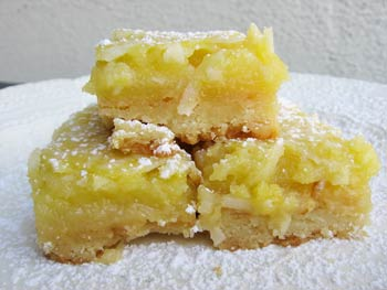 Macadamia Coconut Lemon Bars