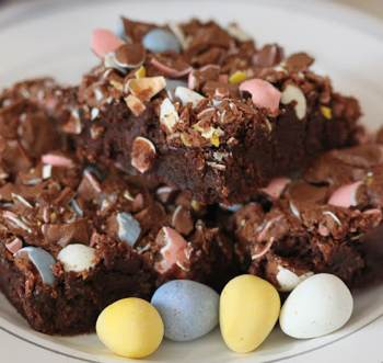 Milk Chocolate Cadbury Mini Egg Brownies