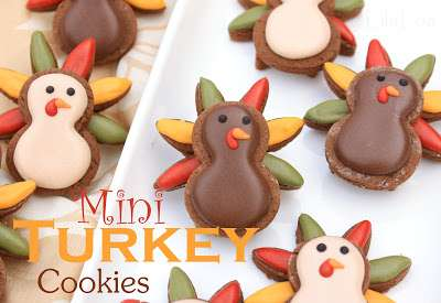 Thanksgiving Mini Turkey Cookies