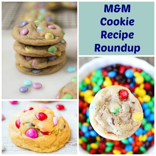 M and M Cookie Recipe Roundup