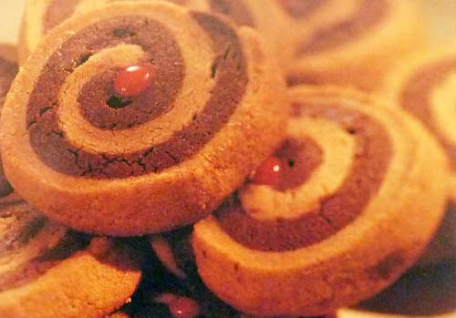 Peanut Butter and Chocolate Swirl Cookies