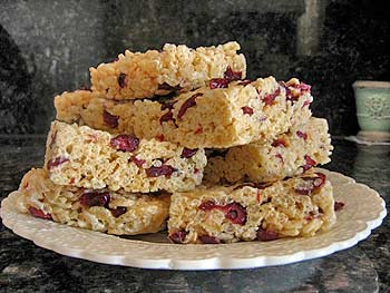 Rice Crispy Squares with Craisins