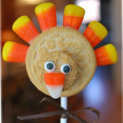 Thanksgiving Turkey Cookie Pops