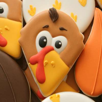 Adorable Turkey Face Cookies
