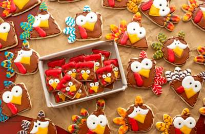 Thanksgiving Turkey Nugget Cookies