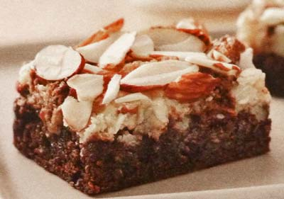 Fudgy Brownies with Almonds and Coconut