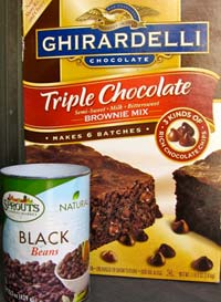 Black Bean and Brownie Mix Brownies