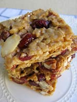 Cranberry Almond Cereal Bars