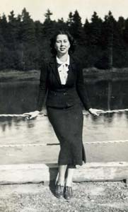 Edith in the 1930s, Lubec, Maine