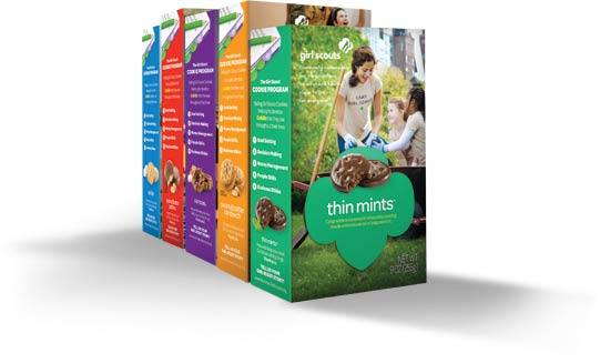 Girl Scout Cookie Boxes