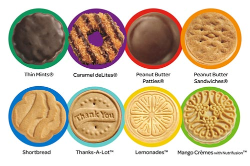 Girl Scout Cookie Flavors