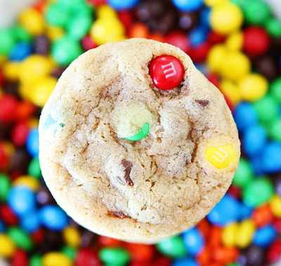 Mini M and M Cookies
