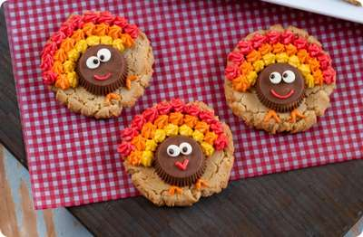 Thanksgiving Peanut Butter Cup Cookies