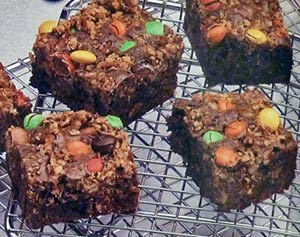M&M Crunch Brownies